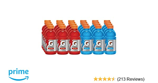 Gatorade Thirst Quencher, Fruit Punch and Cool Blue Variety Pack, 12 Ounce (Pack of 24)