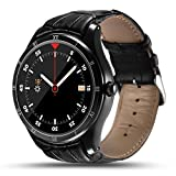 Bluetooth GPS Fitness Activity Tracker Android Smartwatch with Heart Rate Sleep Monitor with 512MB and 8GB - Black