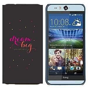 YiPhone /// Prima de resorte delgada de la cubierta del caso de Shell Armor - Gran cita de motivación del texto - HTC Desire Eye M910x
