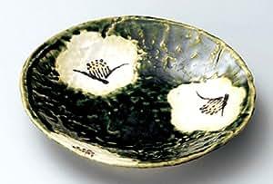 ORIBE-TSUBAKI Jiki Japanese traditional Porcelain Set of 5 Medium Plates
