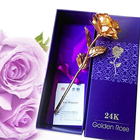 Valentines Day At Trader Rose >> Gayatri Trader Valentine Gift 24k Gold Rose 10 Inches With Gift