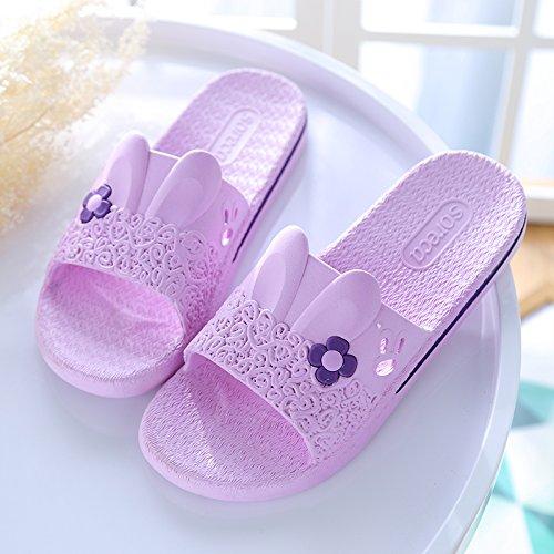 y DogHaccd de Inicio de cool zapatillas de Zapatillas femeninos verano estancia parejas plástico de masculinos Las baño gruesa cubierta verano zapatillas Violeta1 baño antideslizante xYSqYTHtwr