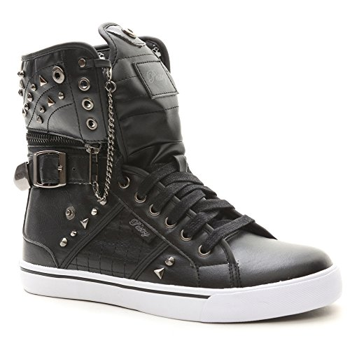Pastry High Tops - Pastry Sugar Rush Unisex High-Top Sneaker & Dance Shoe, Hardware & Stud Detail