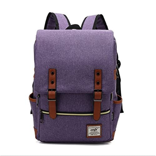 Singyico Travel Rucksack School Bag Laptop Computer Backpack (purple)