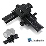 LimoStudio 4-Way Photo Shooting Macro Focus Rail Metal Slider
