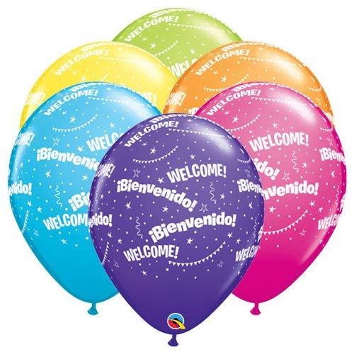 Qualatex Latex Balloons 17348-Q BIENVENIDO! WELCOME!-A-ROUND, 11