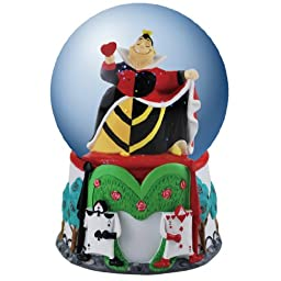 Westland Giftware Musical Water Globe Figurine, 100mm, Disney Villain Queen of Hearts