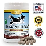 omega 3 soft chews for dogs - Chewable Omega 3 Salmon Oil Supplement for dogs-120 Gluten Free Wild Alaskan Fish Oil Bites for Youthful Skin & Coat, Heart Healthy EPA/DHA, Boost Immune System & Metabolism, Anti Inflammatory