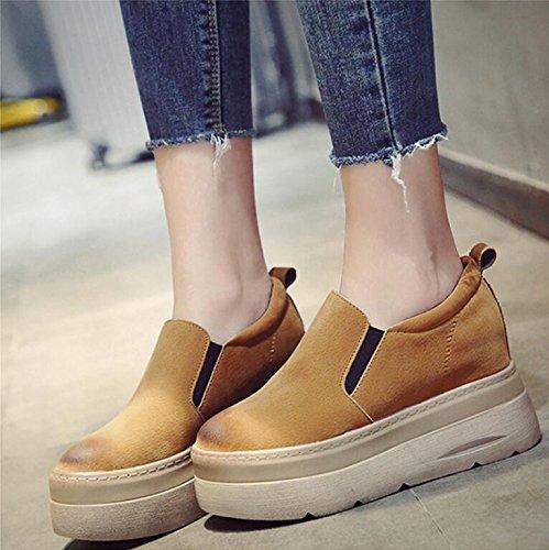 khskx, à l'automne, la nouvelle nouvelle nouvelle hausse du gâteau, des chaussures épaisses chaussures f emme unique version coréenne de façon occasionnelle chaussures mis le pied paresseux b078fh2xd5 parent eb45d2
