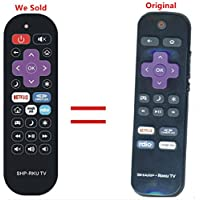 Replacement Remote Control Controller For Sharp LC-43N4000U 43-Inch, LC-50N4000U 50-Inch 1080p Roku Smart LED TV (2016 Model)