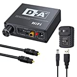 AUTOUTLET DAC Digital to Analog Converter with Volume Control Bi-Directional Optical Toslink to Digital Coaxial Stereo L/R RCA 3.5mm Jack Audio Cable Adapter with for PS3 PS4 XBox HD DVD Sky Amplifier