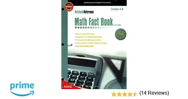 Math Fact Book: Grades 4-8 (Notebook Reference) 2nd Edition ...