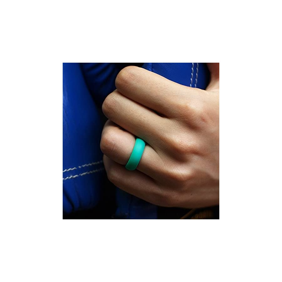 Silicone Wedding Ring For Women Affordable Silicone Rubber Ring,Fitness, Outdoor Activities,Sports, Washing,Yoga,7 Pack
