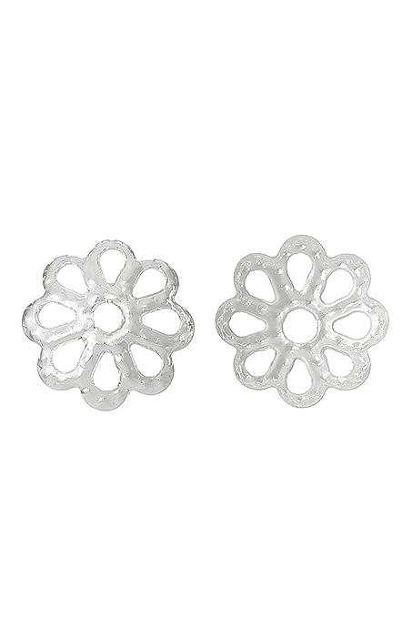 5bd700aaea5e 100 x plata flor del grano leptina 7 mm - para bisutería pendientes pulseras
