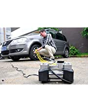Car Air Compressor - 2 Cylinder With Car Vacuum Cleaner Plus Usb Power Supply 3 Sockets