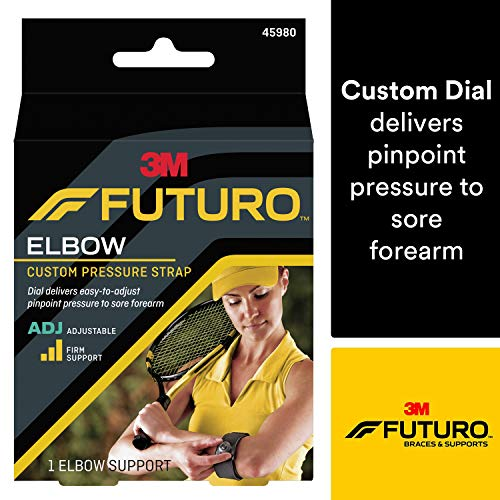 - Futuro Sport Custom Dial Tennis Elbow Strap, Firm Stabilizing Support, Adjust to Fit