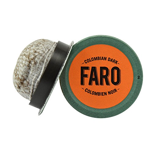 Faro Colombian Dark Roast Coffee, 100% Compostable, Rainforest Alliance Certified Single Serve Cups for Keurig K-Cup Brewers, 12 count