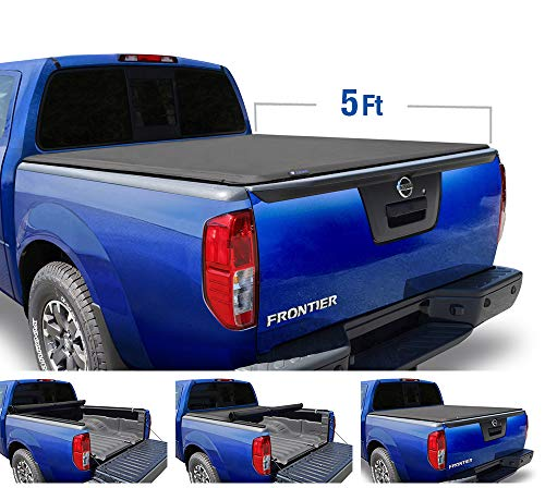 Tyger Auto T1 Roll Up Truck Tonneau Cover TG-BC1N9034 Works with 2005-2019 Nissan Frontier 2009-2014 Suzuki Equator | Fleetside 5' Bed | for Models with or Without The Utili-Track System (Bed Cover 2018 Nissan Frontier)