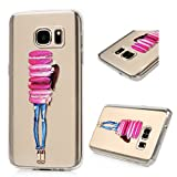 Image of S7 Case,Galaxy S7 Case - BADALink Colorful Painting Ultra Thin Anti-slip Soft TPU Case with Fancy Colorful Pattern Clear Transparent Cover for Samsung Galaxy S7 (2016) - Colorful Macaron