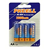 BlueDot Trading AA Rechargeable NiMH Batteries, 2600mAH/1.2V, 4 Count