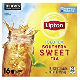 Lipton K-Cups Iced Tea for a Quick Refreshment Sweet Tea Made from Real Tea Leaves 16 count