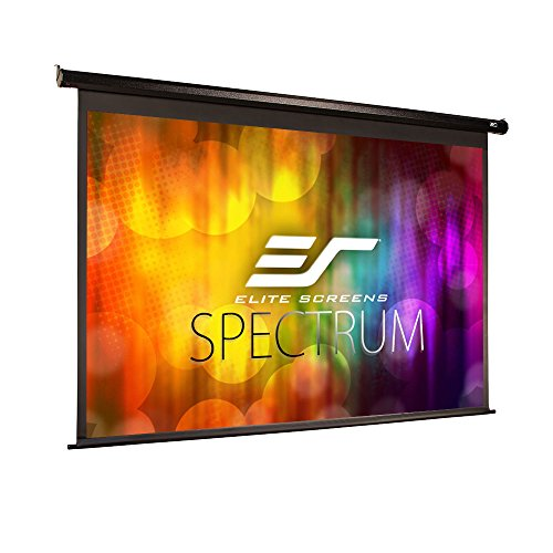 (Elite Screens Spectrum Electric Motorized Projector Screen with Multi Aspect Ratio Function Max Size 106-inch Diag 16:10 & 103-inch Diag 16:9, Home Theater 8K/4K Ultra HD Ready Projection, ELECTRIC106X )