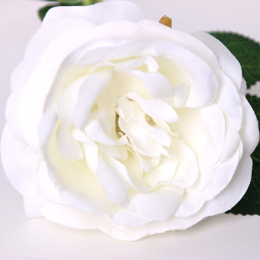 Finance Plan 造花 ブライダルバンケット ガーデンフラワー 1粒 バラ ホームルーム 装飾 ホワイト 01OB26K5QMEZYB678YF20D137QXP B07GZSS9RM ホワイト