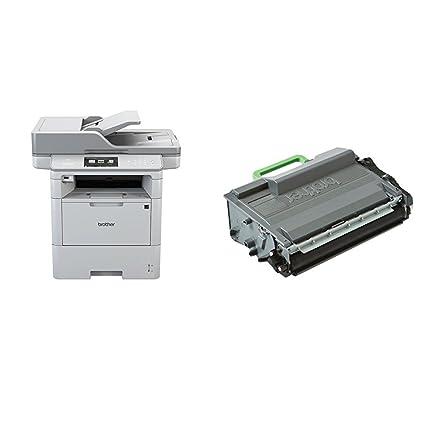 Brother DCP-L6600DW - Impresora multifunción láser monocromo (520 hojas, 40 ppm, USB 2.0, Wifi) + Brother TN3512 - Tóner negro (12.000 páginas según ...