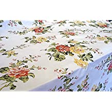 Savoy Garden Vinyl Tablecloth, 60X104 Oblong(Rectangle)