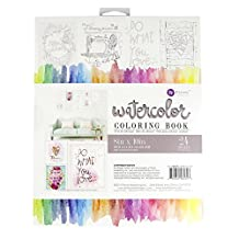 Prima Marketing Prima Marketing Watercolor Coloring Book-(24) 8-inch x 10-inch Frameable Pages by Prima Marketing