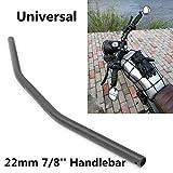 FidgetFidget Handlebar 7/8'' 22mm Motorcycle Curved for Harley Honda Yamaha Suzuki Kawasaki