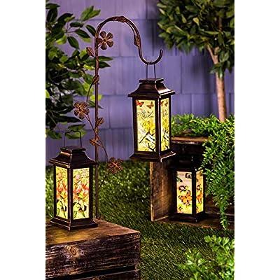 New Creative Evergreen Garden Fluttering Garden Friends Solar Lantern, Butterfly Outdoor Décor for Your Lawn and Garden : Garden & Outdoor