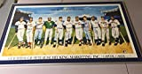 Beautiful 500 Home Run Club 11 Signed Litho Mickey Mantle Ted Williams PSA DNA