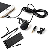 Lavalier Microphone-MAONO AU403 Hands Free Clip-on Lapel Mic with 6 Meter Extension Cable for iPhone, Android, Smartphone, PC,Laptop, Wireless Transmitter, PlayStation 4, Youtube Podcasting