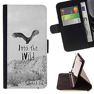 - Into the Wild/ Personalizada del estilo del dise???¡Ào de la PU Caso de encargo del cuero del tir????n del soporte d - Cao - For HTC One M9