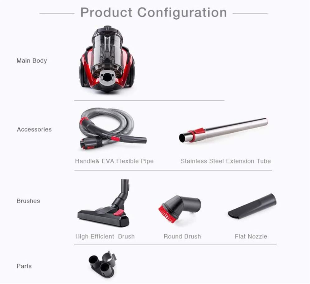 DYHQQ Cylinder Vacuum Cleaner, Bagless Vacuum Cleaner