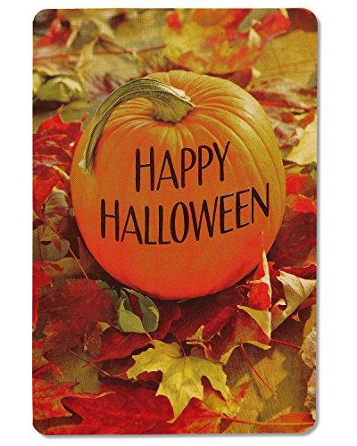 American Greetings Pumpkin Halloween Card with Embossing, -