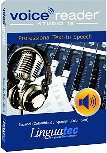 - Voice Reader Studio 15 Español (Colombian) / Spanish (Colombian) - Professional Text-to-Speech Software (TTS) / Convert any text into audio / Natural sounding voices / Create high-quality audio files/ Large variety of applications: E-learning; Enrichment of training or advertising material; Traffic announcements, Telephone information systems; Voice synthesis of documents; Creation of audio books; Support for individuals with sight disability or dyslexia / Contains 1 female and 1 male voice