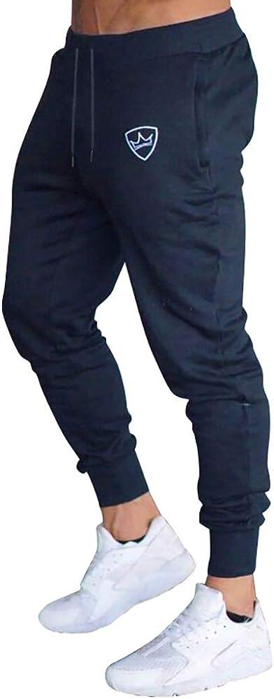 VANVENE Pantaloni da Allenamento da Uomo da Palestra Pantaloni Casual Slim Fit