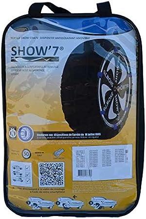 Chaussette neige textile pneu 285//40R20 excellente protection de la jante Valise comprenant 2 chaines textile et 1 paire de gants