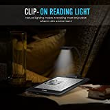 MoKo Flexible Neck LED Clip-On Reading Light Lamp, for Amazon Kindle 1 / 2 / 3 / 4 / 5, Kindle 7th Gen / 8th Gen, Kindle Touch, Kindle DX/DXG, 6