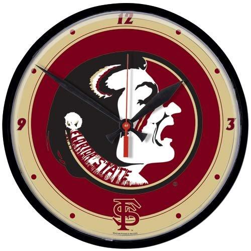 Florida State Seminoles (FSU) Round Wall Clock