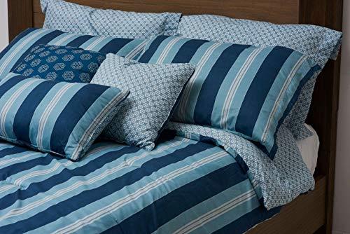 KingLinen 6 Piece Chatham Stripe Oversized Comforter Set Twin