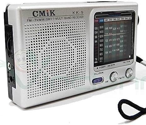 PLATA radio portátil de AM FM 7 bandas de frecuencia audio del ...