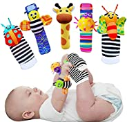 Foot Finders & Wrist Rattles for Infants Developmental Texture Toys for Babies & Infant Toy Socks &