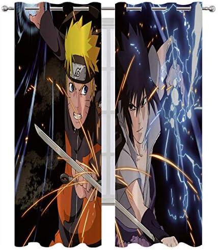 Window Treatments Curtains Naruto and Sasuke Fight Sparks Curtain Panel Pair