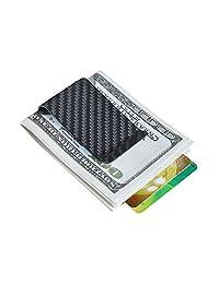 Carbon Fiber Wallet CL Carbonlife? Glossy Money Clip Credit Card Business Card Holder