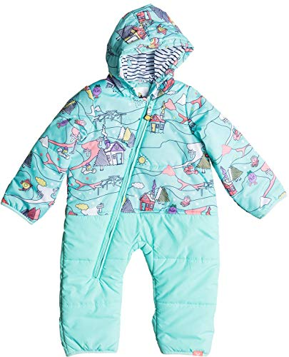 Roxy Girls Baby Rose Little Miss Snow Jumpsuit, Aruba Blue Alpine, 6-12M