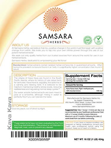 Samsara Herbs Kava Kava Root Extract Powder - 30% Kavalactones Extract (16oz/454g) by Samsara Herbs (Image #2)