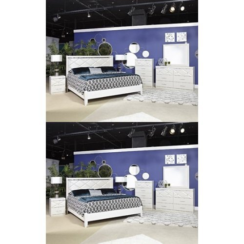 Ashley Furniture Signature Design - Dreamur Master Bedroom Set - Contemporary Queen Panel Bedset - Champagne